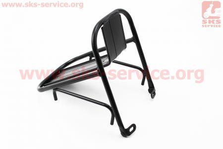 """Багажник 24 - 29"""" передний алюминий, цельносварной, крепл. под V-brake тормоз, черный HS-028 для велосипеда"""