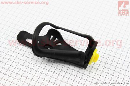 Флягодержатель пластиковый с регулировкой под фляги 51-73мм, крепл. на раму, черный для велосипеда