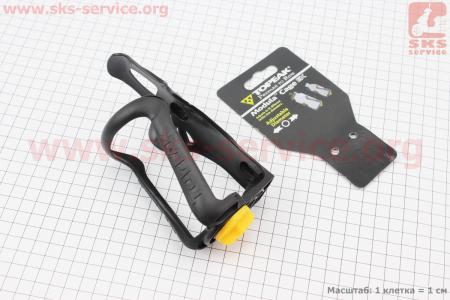 Флягодержатель пластиковый с регулировкой под фляги 51-73мм, крепл. на раму, черный TMD05B для велосипеда