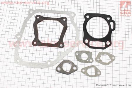 Прокладки двигателя к-кт 7шт 168F (68мм металл) для мотоблока