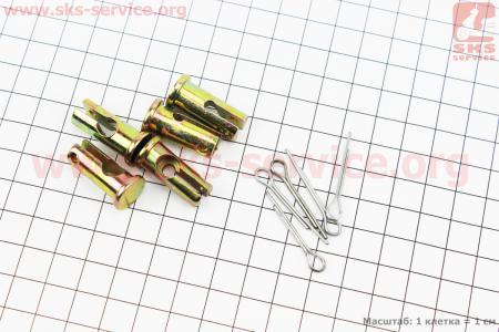 Шплинт + стопор D=10мм, L=22мм к-кт 5шт, фиксатор троса на рычаге сцепления и реверса для мотоблока