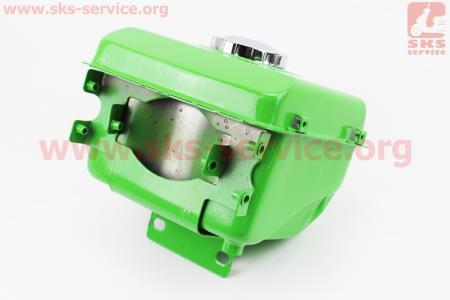 Бак топливный R175A/R180NM, 225x175x165мм, потайная горловина, отверстие под шланг топливный + крышка для мотоблока