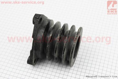 Шкив 4-х ручейковый D=100мм (четыре паза под ремень SPB) Lотв.=107мм для мотоблока