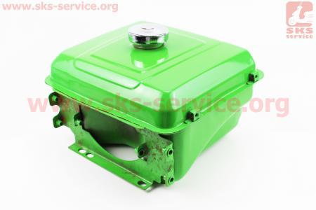 Бак топливный для мотоблока R190N, 275x220x165мм, выст. горловина, отверстие под шланг топливный + крышка