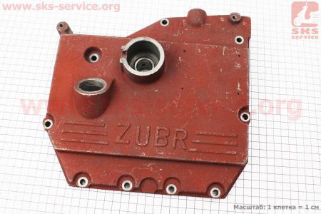 Крышка блока двигателя правая (со стороны заводного рычага), 9отв., чугунная для мотоблока R190N/195NM Тип №2