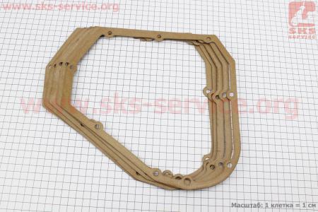 Прокладка крышки блока правой (со стороны заводного рычага) под 8отв, для мотоблока R190N/195NM, к-кт 5шт, на блистере