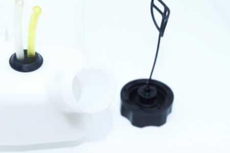 Бак топливный под 2 крепления, боковая верхняя горловина длинная для мотокос
