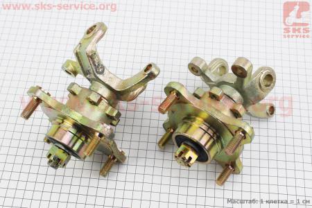 Цапфа (поворотный кулак) ATV 150-250 правый + левый в сборе с ступицой (на 4 болта) под дисковый тормоз (ось 17мм) на ATV-квадроциклы разных моделей