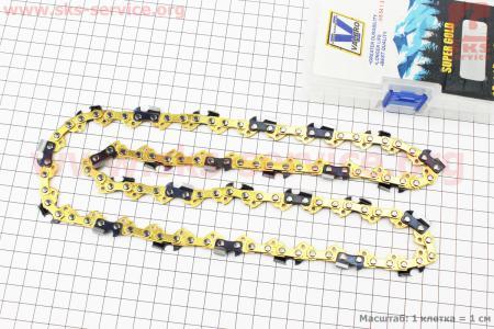 """Цепь 3/8""""-1,3mm-54зв. квад. зуб (на электропилу), """"GOLD"""""""
