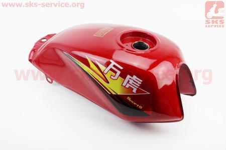 Бак топливный NEW (под кран М16, крепление с одним отверстием), КРАСНЫЙ на грузовой мотоцикл Viper - ZUBR