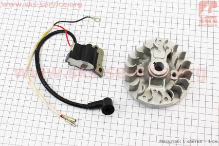 Ротор магнето 139F - 4T + катушка зажигания к-кт для 4-х тактных мотокос
