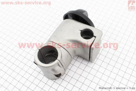 Крепление ручек к трубе Ø28мм к-кт, стальное, регулируемое для мотокосы