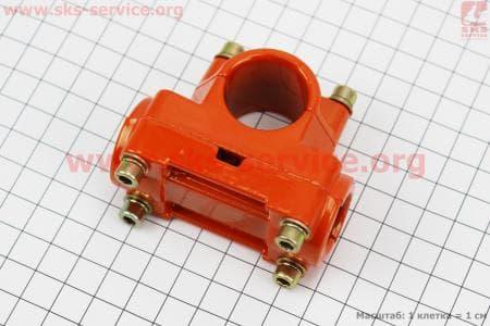 Крепление ручек к трубе Ø26мм к-кт, оранжевое, для мотокосы