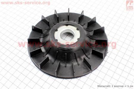 Крыльчатка охлаждения обмоток статора (вентилятор) Ø135мм 0,8кВт (ET 950) Запчасти к мото-ГЕНЕРАТОРАМ