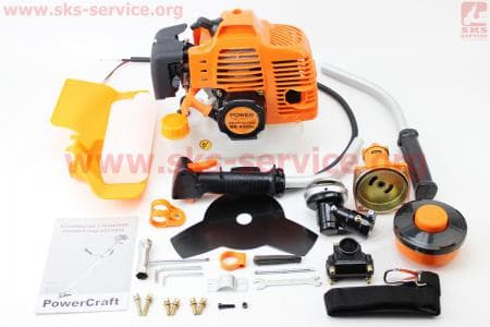 Триммер (мотокоса) Power Craft BK4325n - 2,5кВт (леска+нож 3Т)