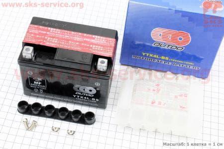 Аккумулятор 4Аh YB4L-BS (кислотный) 113/70/85мм, 2017