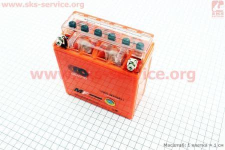 Аккумулятор 5Аh YTX5AL-BS (гелевый, оранж) Active 120/60/130мм, 2017