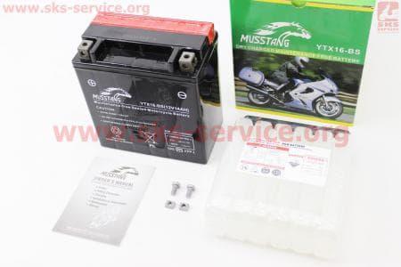 Аккумулятор 14Аh YTX16-BS (кислотный) 150/85/160мм