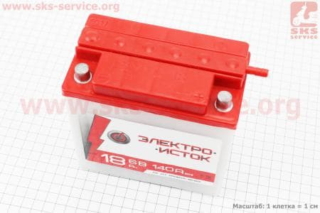 """Аккумулятор 6V/18Аh, 3МТС-18 (кислотный, сухой) 140/75/140мм, МТ,ИЖ, """"Электро-исток"""", 2017"""