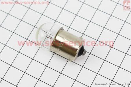 Лампа поворота (белая с цоколем) 12V/5W G18