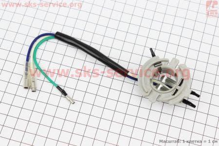 Патрон лампы фары цоколь BA20D пластик серый