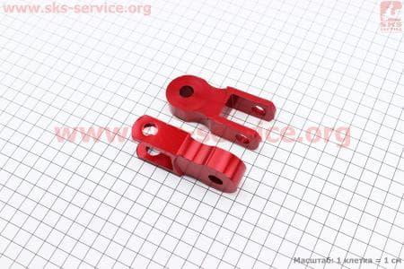 Удлинитель заднего амортизатора 50мм к-кт 2шт, красный