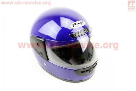 Шлем закрытый HF-101 S- СИНИЙ глянец