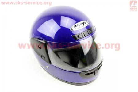 Шлем закрытый HF-101 M- СИНИЙ глянец