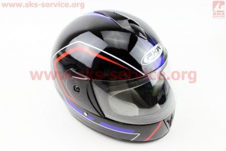 Шлем закрытый HF-150 S- ЧЕРНЫЙ Q155