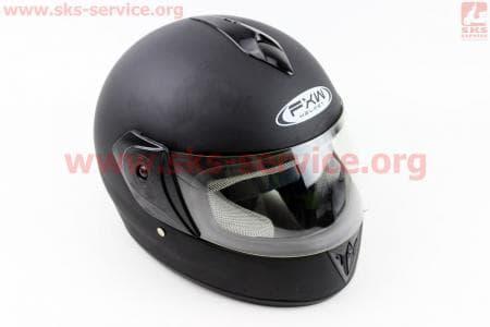 Шлем закрытый HF-150 S- ЧЕРНЫЙ матовый