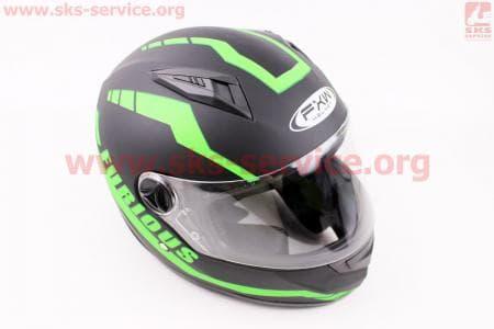 Шлем закрытый HF-111 S- ЧЕРНЫЙ матовый