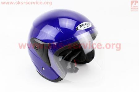 Шлем открытый HF-200 S-СИНИЙ