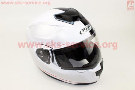 Шлем закрытый с откидным подбородком+очки HF-119 S- БЕЛЫЙ
