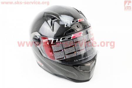 Шлем закрытый + откидные очки, подкачка FF385 CT2 Solid КАРБОНОВЫЙ(100%) XL - ЧЕРНЫЙ