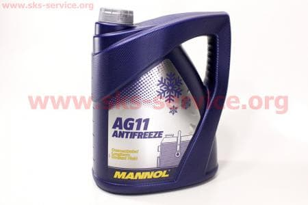 АНТИФРИЗ AG11 концентрат 1:1 голубой, 5л