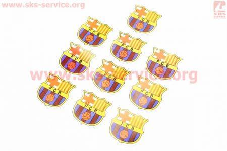 """Наклейка """"FC Barcelona"""" 10шт 4,5х4,5, 5647"""