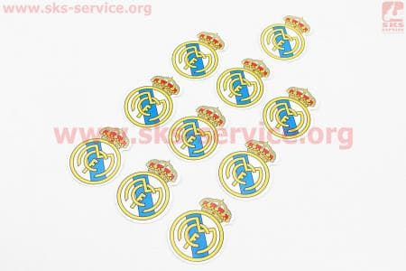 "Наклейка ""FC Real Madrid"" 10шт 4,5х4,5, 5650"