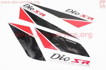 """Наклейки на планшете """"DIO"""" черные набор 5шт 14х40, 1165С"""