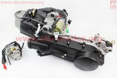 Двигатель скутерный в сборе 150куб (длинный вариатор) + карбюратор