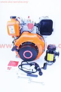 Двигатель мотоблочный в сборе+стартер 6 л.с. 178FЕ (HT-105)