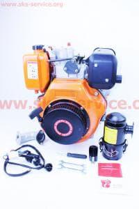 Двигатель мотоблочный в сборе+стартер 9л.с. 186FЕ (HT-135)