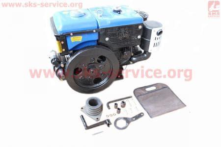 Двигатель мотоблочный в сборе + стартер 12л.с. ZUBR SH195NDL