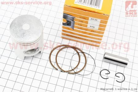 Поршень, кольца, палец к-кт для скутера Honda DIO ZX50 40мм STD (палец 12мм) желтая коробка