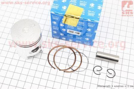 Поршень, кольца, палец к-кт Honda DIO ZX50 40мм +1.00