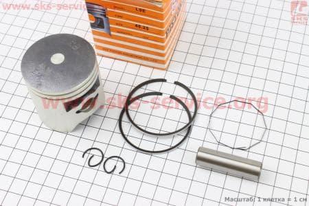 Поршень, кольца, палец к-кт Honda DIO ZX80 48мм +0,25 желтая коробка