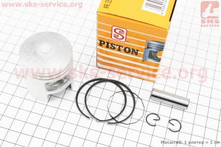 Поршень, кольца, палец к-кт Suzuki AD50 41мм +0,5 желтая коробка