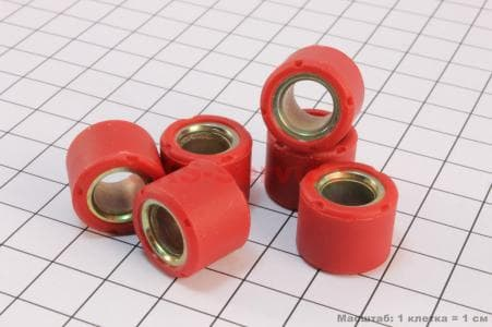 Ролики вариатора 6шт, Honda/GY6 16*13 - 10гр