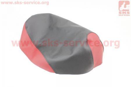Чехол сидения Honda DIO AF34 (эластичный, прочный материал) черный/красный