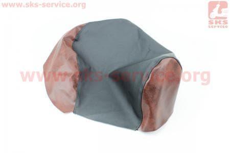 Чехол сидения Yamaha MINT 1YU (эластичный, прочный материал) черный/коричневый