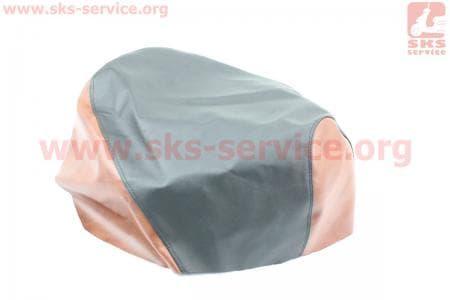 Чехол сидения Yamaha JOG 3KJ (эластичный, прочный материал) черный/коричневый